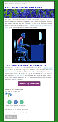 Good Posture Goes A Long Way and Valentine's Day Special