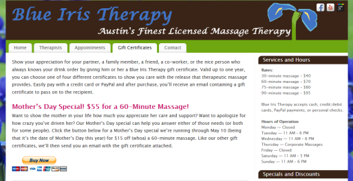 Mother's Day Gift Certificates Copy